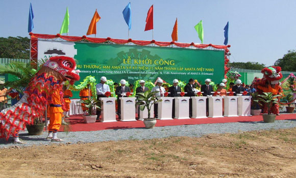 Lễ khởi công cong trinh khu thuong mai amata