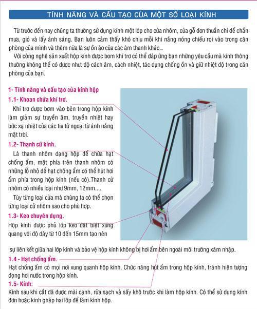 cửa nhựa itavinawindow, cửa thái bảo, tính năng và cấu tạo của một số loại kính