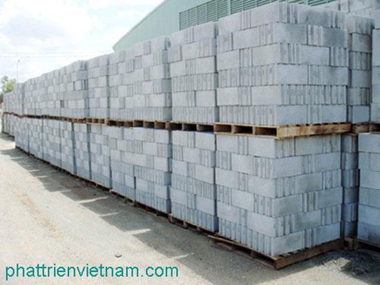 Gạch block đóng kiện ba let