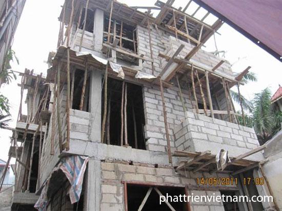 Xây nhà bằng gạch siêu nhẹ - gạch bê tông khí chưng áp