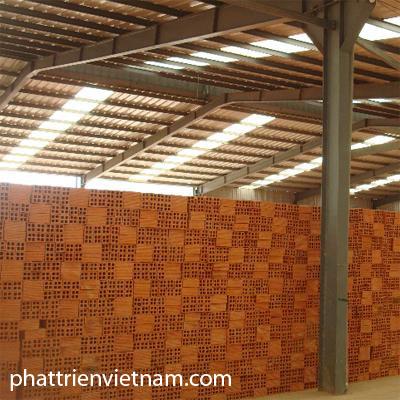 Nhà máy gạch tuynel - gạch xây tường: gạch 4 lỗ, gạch ống, gạch đinh, gạch 2 lỗ, gạch demi