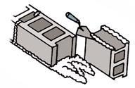 Thực hiện cách xây gạch block xi măng - Gạch không nung