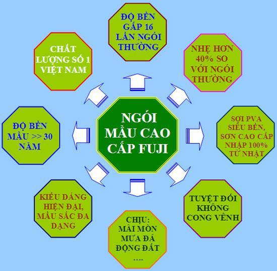 Ngói mầu cao cấp fuji - Công ty Phát Triển Việt Nam