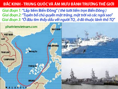 Trung Quốc và âm mưu bành trướng thế giới - Giai đoạn 1: Lấp liếm Biển Đông : Quần đảo hoàng sa & quần đảo Trường Sa