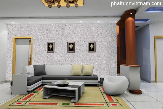 Thiết kế mẫu nhà với tường tơ lụa - Công ty Phát Triển Việt Nam