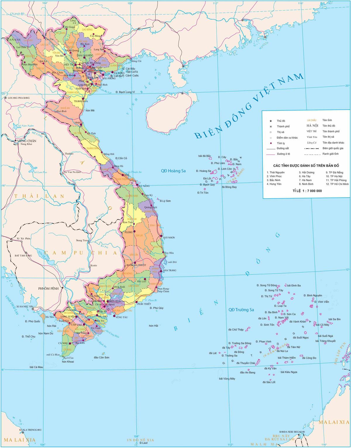 BẢN ĐỒ VIỆT NAM - VIETNAM MAP : C�NG TY TNHH PH�T TRIỂN VIỆT NAM phattrienvietnam.com